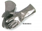 Welders Style Glove, Thermal Leather Palm, Aluminized Back, Gunn Cut, Wool Lined